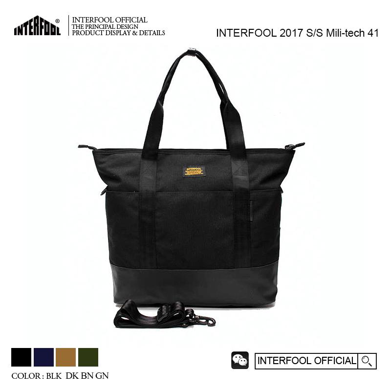 欧美手提包 INTERFOOL原创品牌欧美CORDURA杜邦尼龙防水男女手提斜跨单肩包_推荐淘宝好看的女欧美手提包