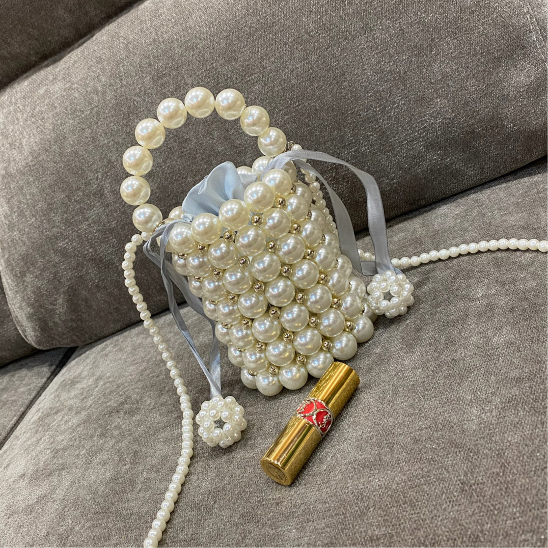 diy手提包 珍珠包时尚diy材料包编织包包串珠手提包斜挎手工包自制小香风女_推荐淘宝好看的diy手提包