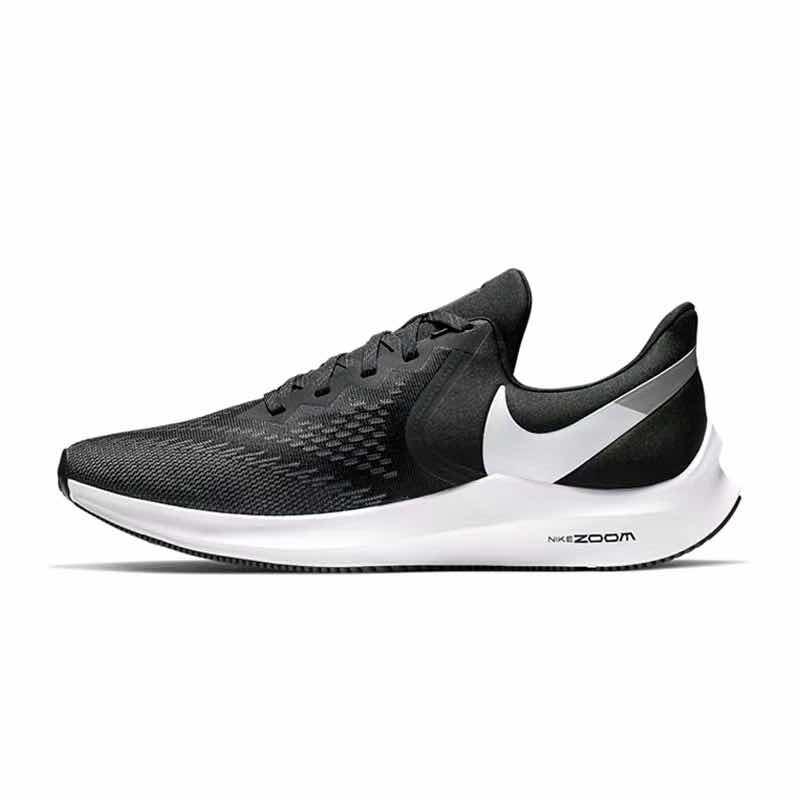 耐克老款运动鞋 耐克Nike winflo 6 男女黑白飞线运动舒适透气跑步鞋 AQ8228-003_推荐淘宝好看的女耐克运动鞋