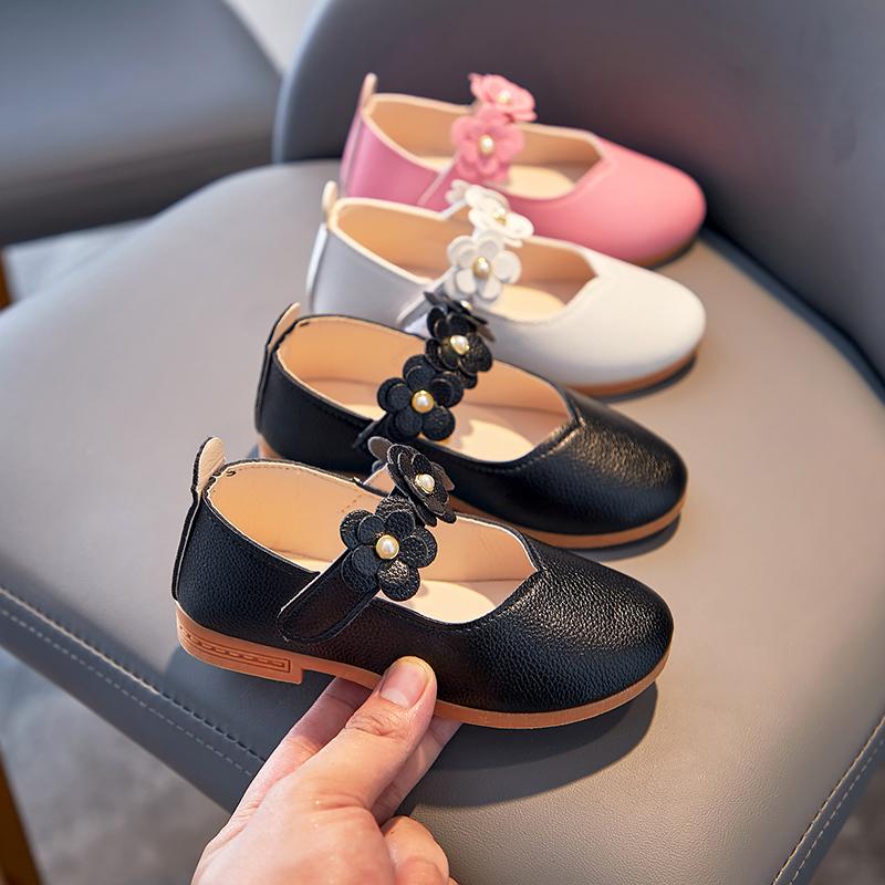 英伦豆豆鞋 2020夏季2儿童3小皮鞋4公主鞋5英伦豆豆鞋6-7女童软底休闲鞋8岁_推荐淘宝好看的女英伦豆豆鞋
