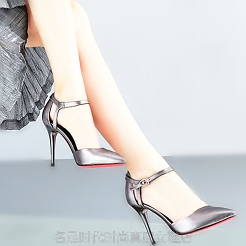 性感高跟鞋 2020春季新款包头尖头凉鞋 性感镂空后包透气细高跟大小码女凉鞋_推荐淘宝好看的女性感高跟鞋