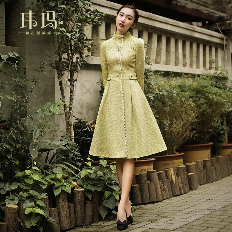 女士风衣 秋冬2020年新款女装复古淑女修身气质显瘦中长款女式风衣外套1130_推荐淘宝好看的女士风衣
