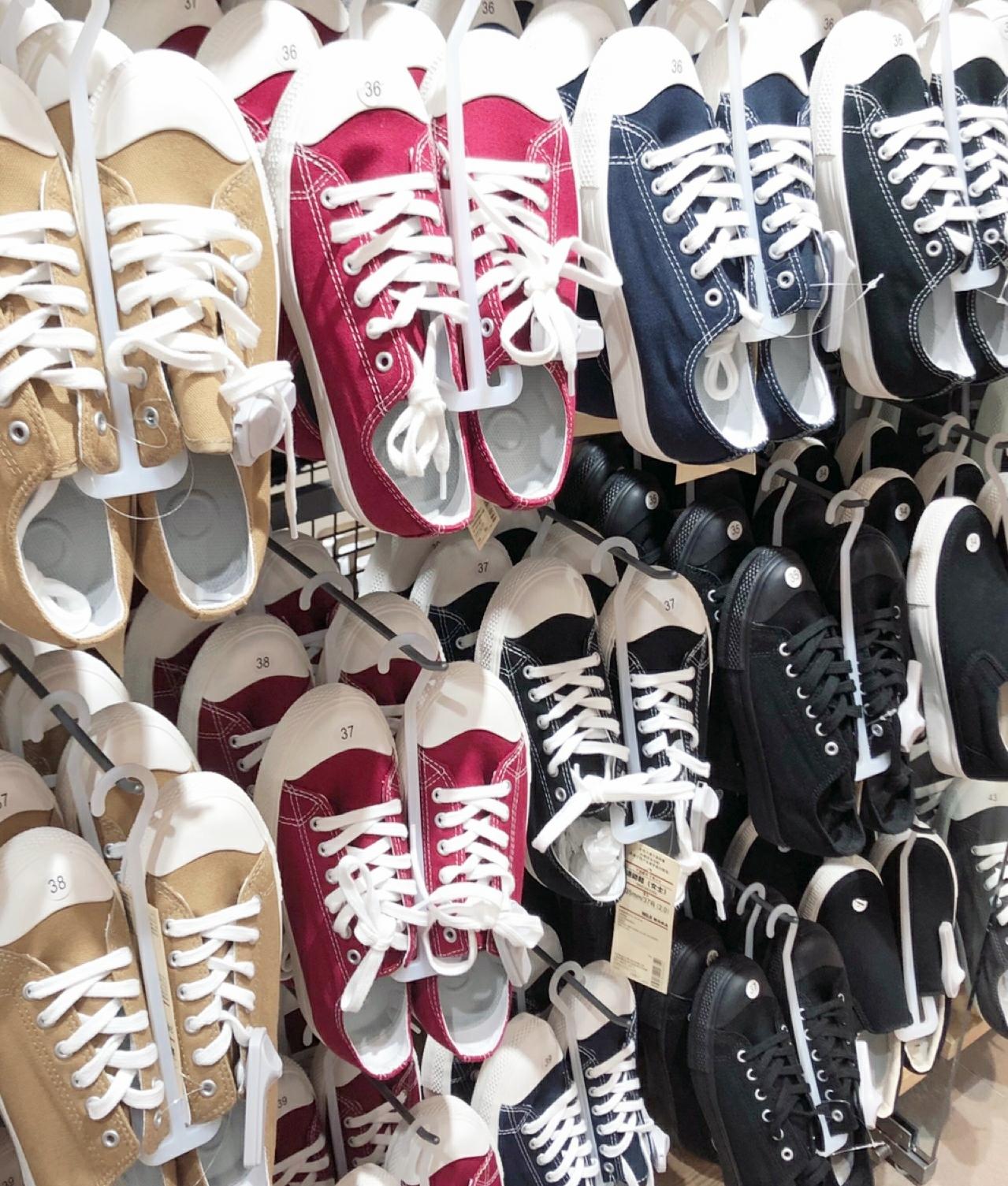 帆布鞋 无印良品小白鞋MUJI帆布鞋新款不易沾水棉防疲劳男女百搭休闲鞋_推荐淘宝好看的女帆布鞋