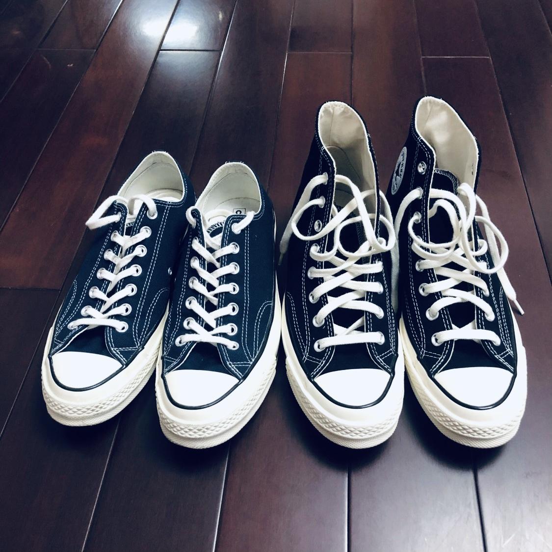 高帮复古板鞋 Converse匡威 1970s 黑色复古高帮低帮板鞋帆布鞋162050 162058_推荐淘宝好看的高帮复古板鞋