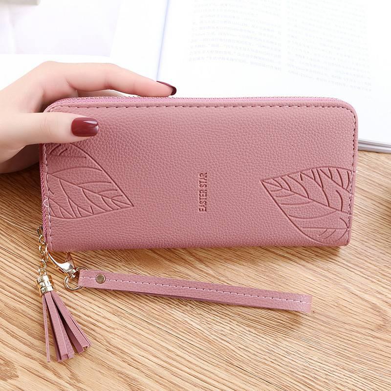 钱包 女士长款手拿包手腕包多功能拉链大容量手机零钱包_推荐淘宝好看的女钱包