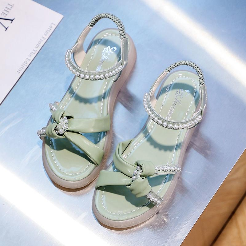 凉鞋 20凉鞋女夏外穿ins2021年夏季新款时尚百搭仙女风蝴蝶结时装凉鞋_推荐淘宝好看的女凉鞋