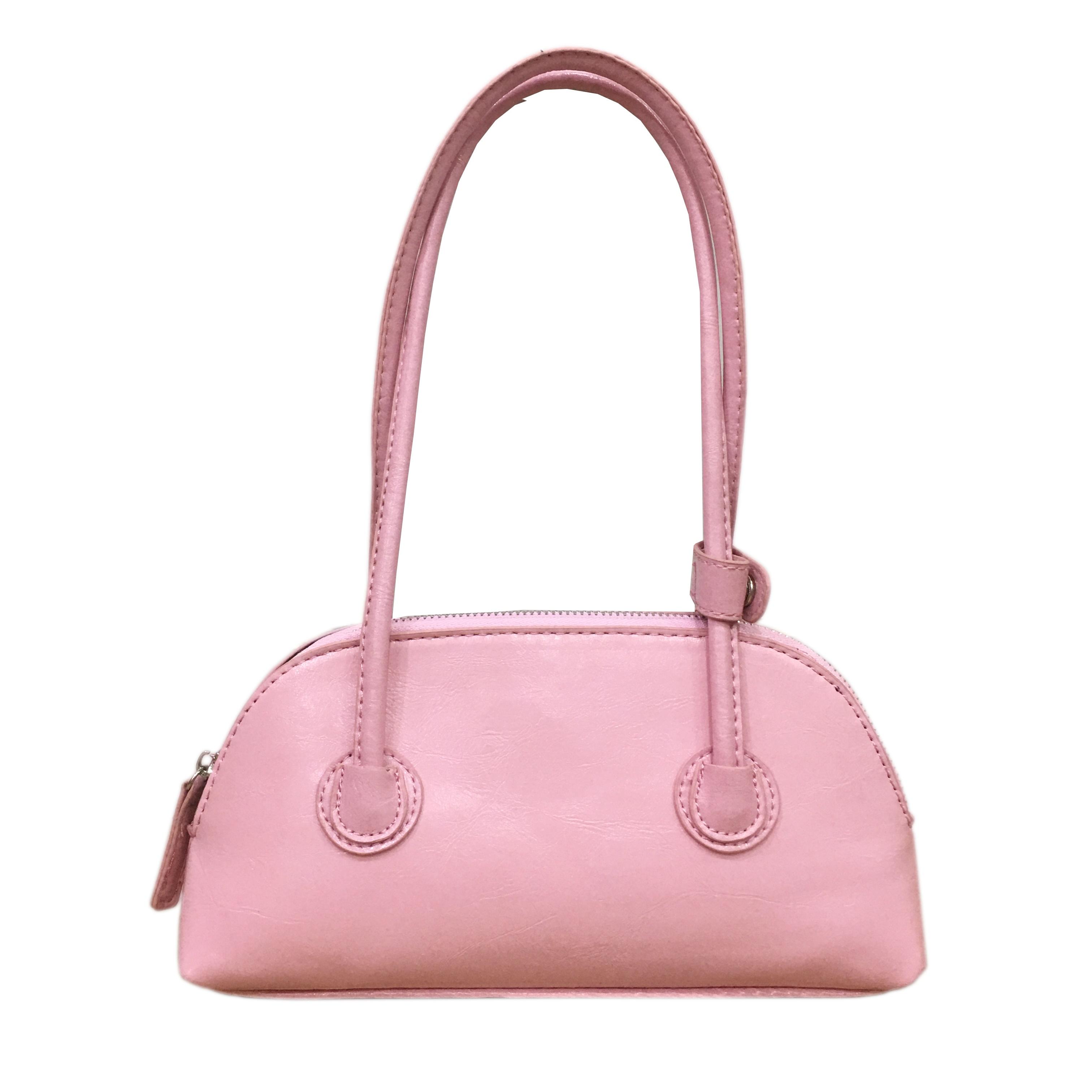 粉红色复古包 2021包包糖果色ins复古法棍包休闲粉色手提单肩腋下包粉红色百搭_推荐淘宝好看的粉红色复古包