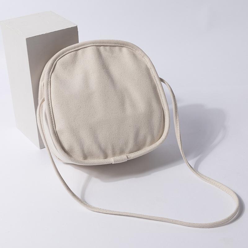 白色单肩包 YONBEN元本良厂仙女帆布小圆包 简约个性单肩包百搭白色帆布包女_推荐淘宝好看的白色单肩包