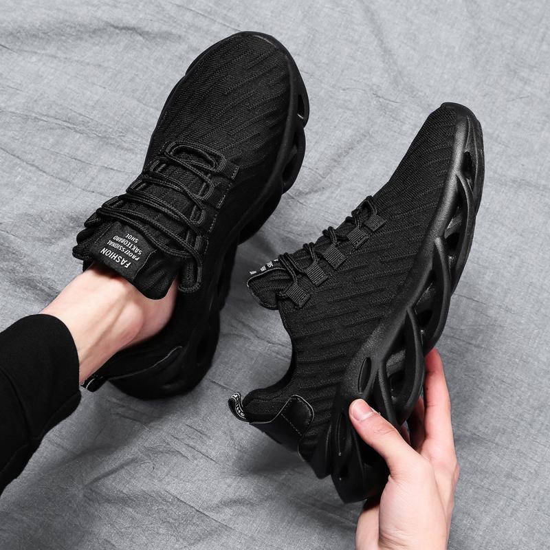 黑色帆布鞋 春季老爹运动鞋男鞋子帆布2020新款百搭男士纯黑色休闲旅游跑步鞋_推荐淘宝好看的黑色帆布鞋