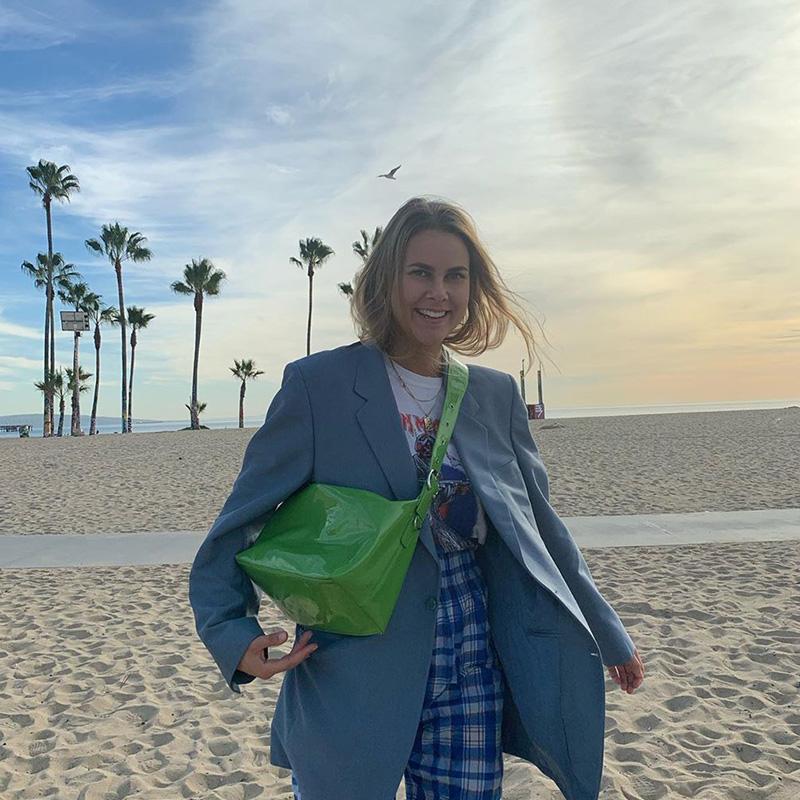 绿色斜挎包 高级感绿色包包2021新款斜挎包小众洋气欧美时尚大容量上课通勤包_推荐淘宝好看的绿色斜挎包