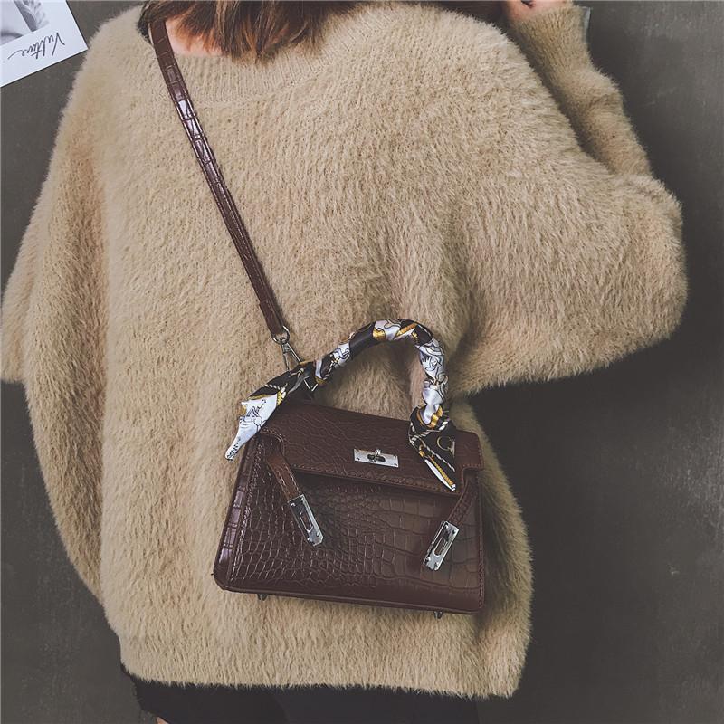 红色手提包 秋冬款凯莉包2020新款潮韩版手提女包时尚百搭单肩包斜挎小包包女_推荐淘宝好看的红色手提包