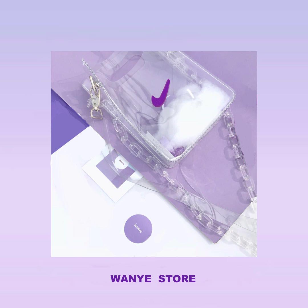 紫色斜挎包 霹雳紫色pvc透明包包嘻哈女包街头单肩斜挎换钩包六色勾土酷蹦迪_推荐淘宝好看的紫色斜挎包
