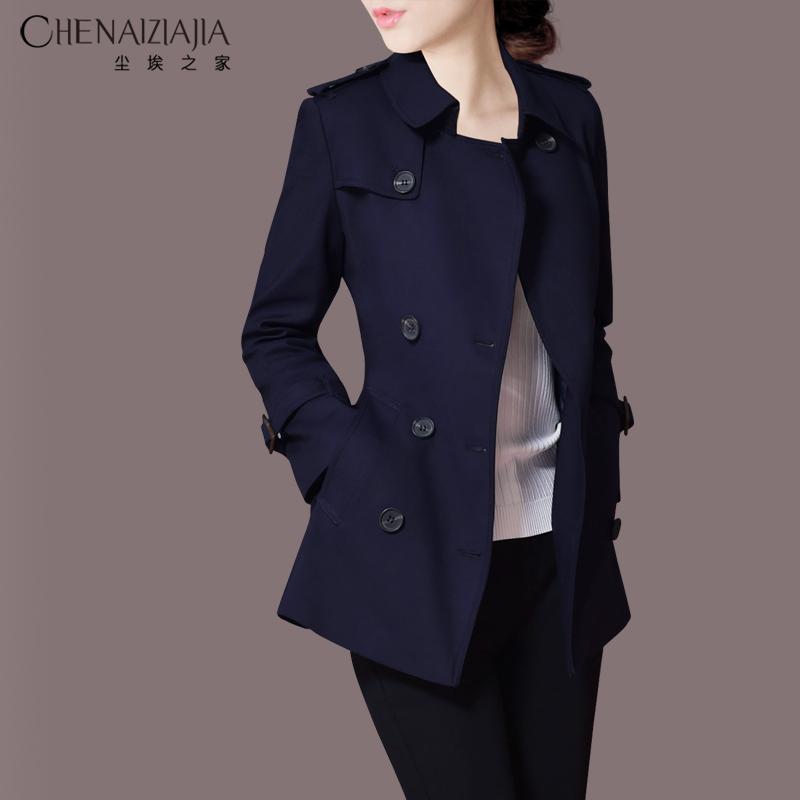 短款风衣 2021春装新款小个子风衣女装潮短款时尚通勤休闲韩版修身外套K37_推荐淘宝好看的女短款风衣