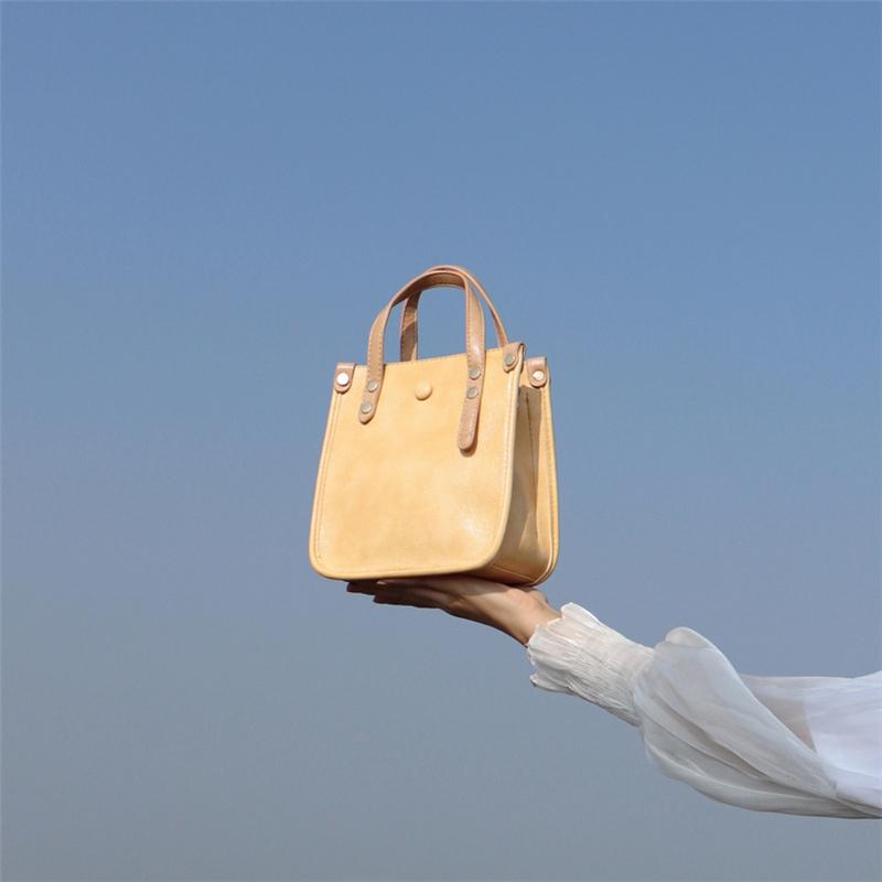 黄色斜挎包 《水桶包》女包2020新款包包黄色托特包潮高级感包包斜跨洋气斜挎_推荐淘宝好看的黄色斜挎包