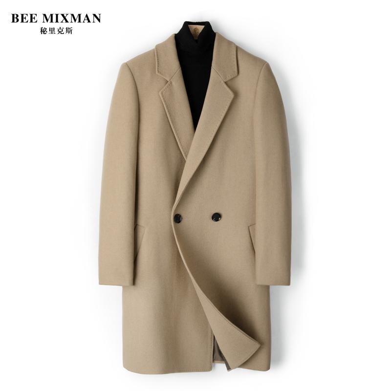 男士风衣外套 羊毛呢大衣男式中长款2019冬季厚款青年韩版妮子大衣男士风衣外套_推荐淘宝好看的男风衣外套