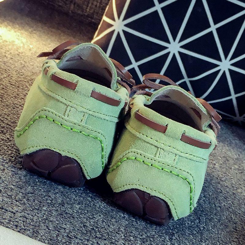 女士豆豆鞋 瞌睡豆内外真皮豆豆鞋女大码春季秋休闲学生单鞋平底护士鞋妈妈鞋_推荐淘宝好看的女豆豆鞋