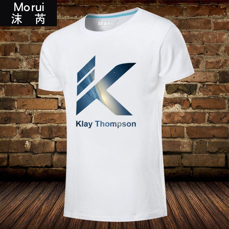 女士短袖t恤 克莱汤普森休闲篮球运动衣服短袖t恤衫男女球迷服全棉半截袖体恤_推荐淘宝好看的女女短袖t恤