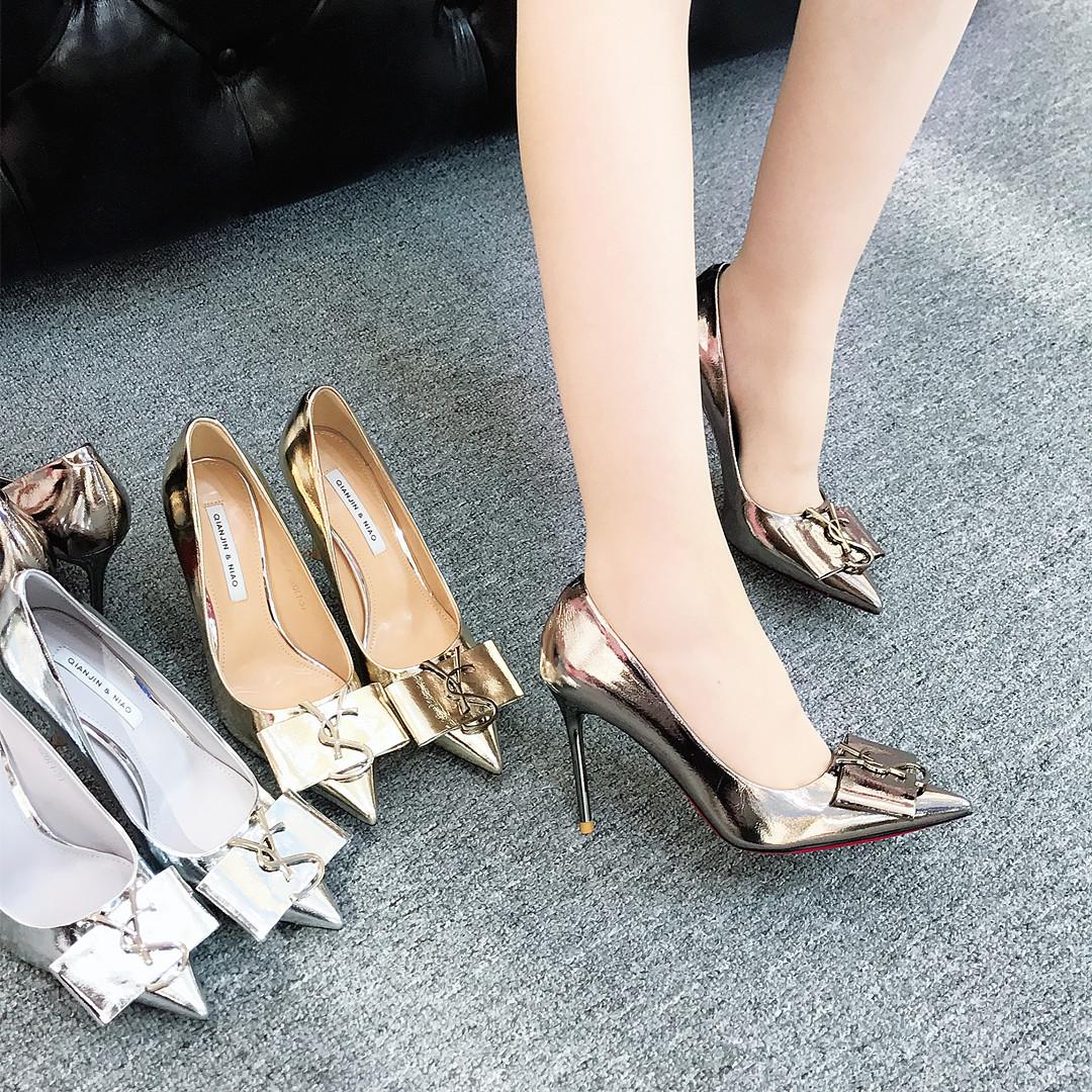 女高跟鞋 2019秋季新款钎金鸟A262-7高跟鞋细跟尖头女鞋舒适性感个性潮单鞋_推荐淘宝好看的女高跟鞋