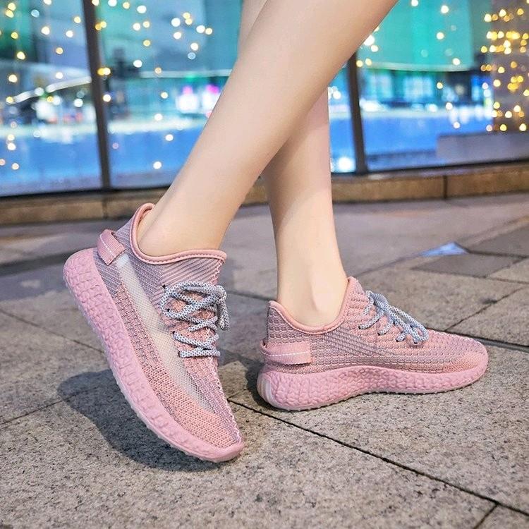 粉红色松糕鞋 粉红色松糕底夏季新款椰子鞋女网面透气百搭单鞋软底练车休闲女鞋_推荐淘宝好看的粉红色松糕鞋