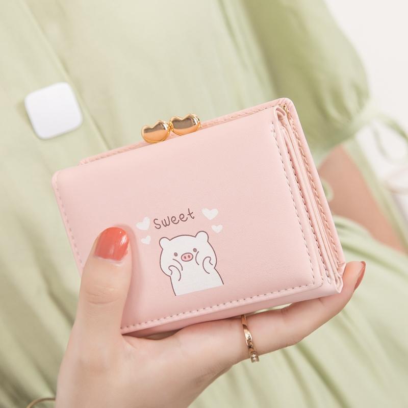 紫色钱包 女士钱包短款 学生日系ins少女2020韩版新款可爱卡通复古小零钱包_推荐淘宝好看的紫色钱包