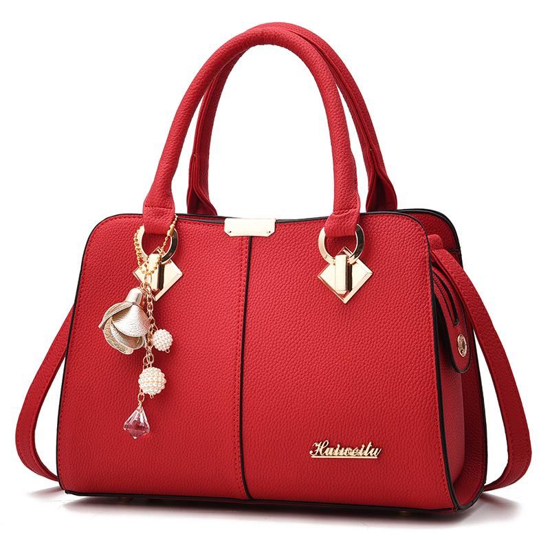 红色手提包 婚礼包包女2021新款时尚红色新娘包结婚包大气单肩斜跨女士手提包_推荐淘宝好看的红色手提包