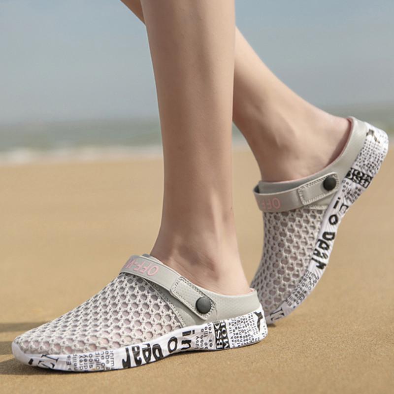 沙滩女凉鞋 夏季新款户外运动休闲情侣鞋沙滩鞋涉水鞋特大码女凉鞋二穿女拖鞋_推荐淘宝好看的女沙滩凉鞋