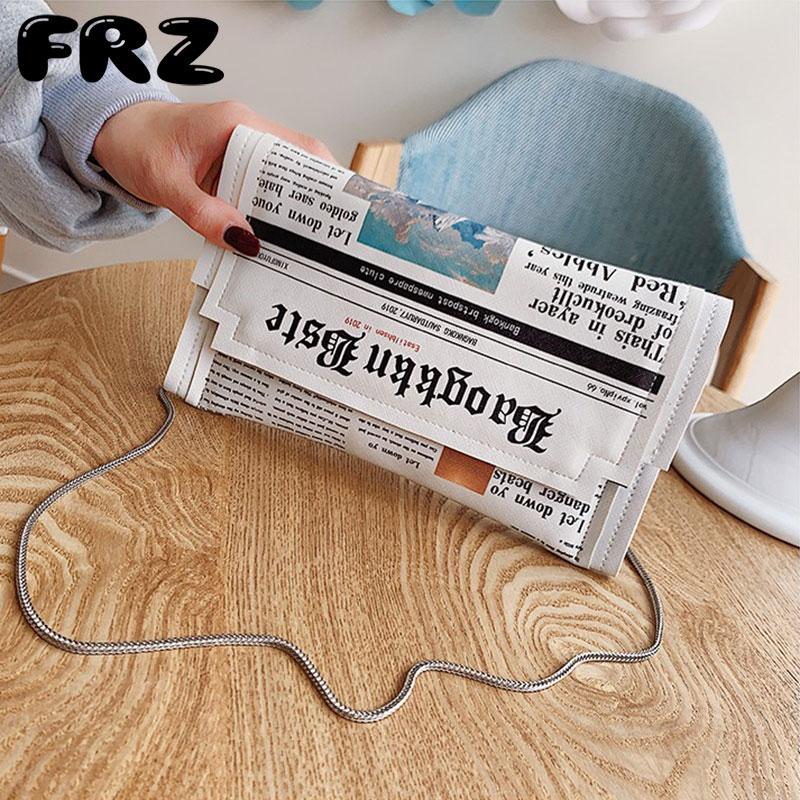 信封包 泰国创意女包造型手拿包报纸手抓包搞怪包包个性信封包原宿斜挎包_推荐淘宝好看的女信封包