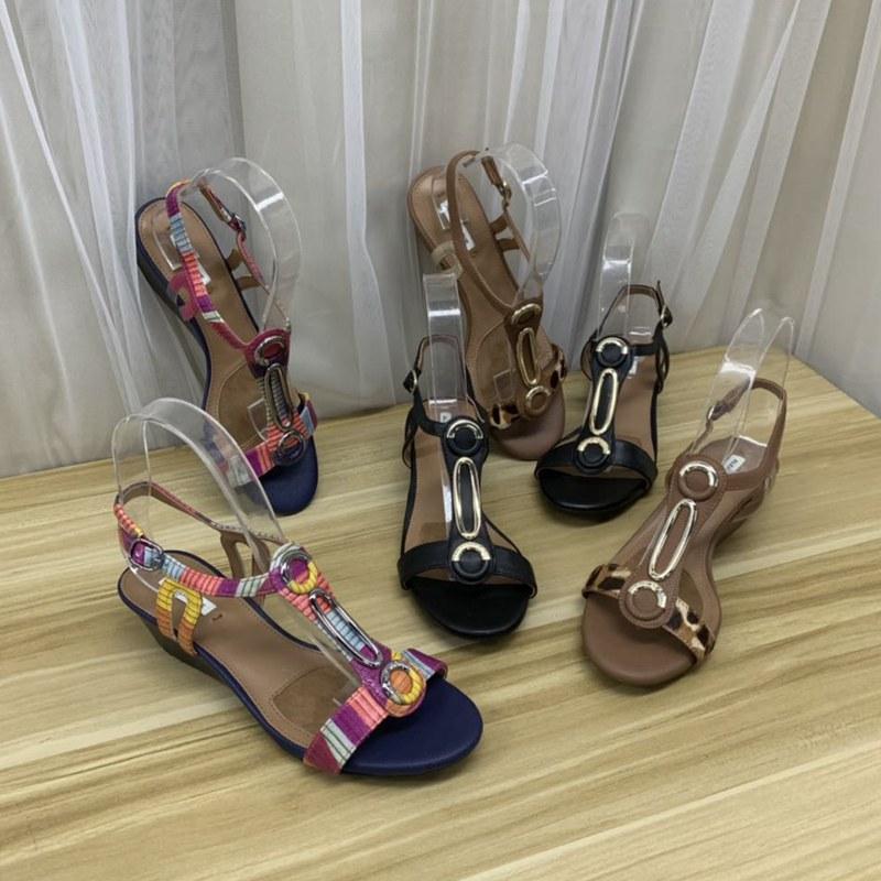 真皮罗马鞋 外贸原单女鞋波西米亚风中跟跛跟仙女真皮复古风罗马凉鞋_推荐淘宝好看的真皮罗马鞋