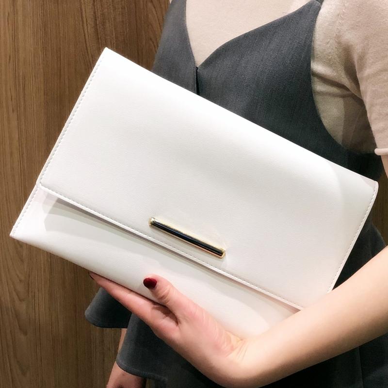 红色信封包 斜跨包女新款韩版简约手拿包软皮休闲链条包气质大容量信封包小包_推荐淘宝好看的红色信封包