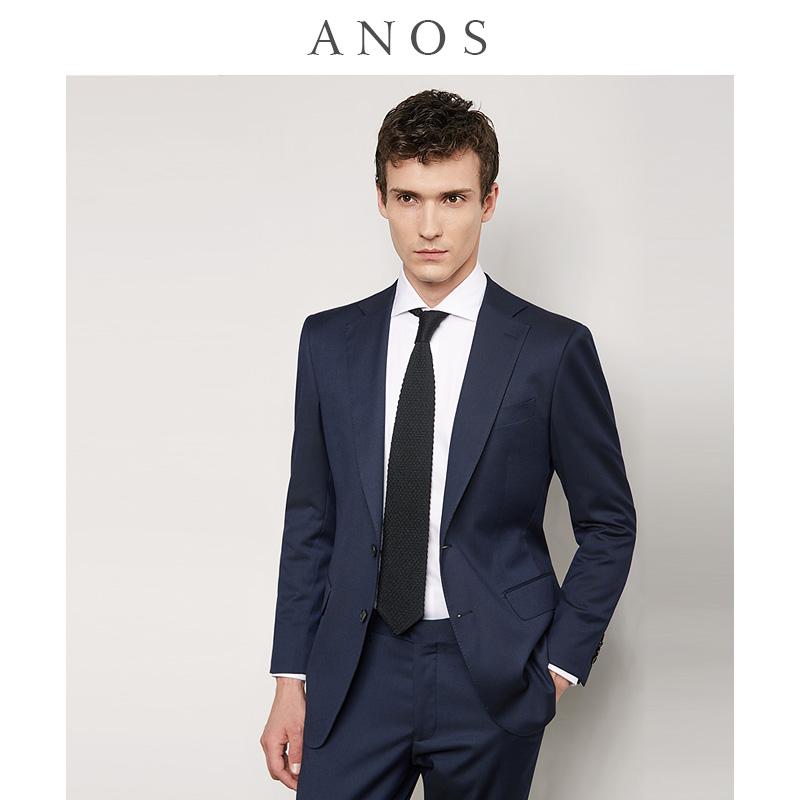 男士西装 ANOS西服套装男商务正装修身职业上班西装结婚新郎伴郎英伦风外套_推荐淘宝好看的男西装