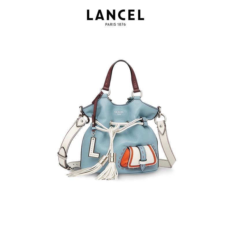 lancel水桶包 Lancel兰姿PF系列法国名牌包包女2020夏新款单肩斜挎手提包水桶包_推荐淘宝好看的lancel水桶包