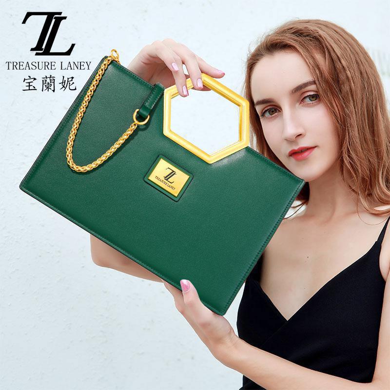 绿色手提包 TL宝兰妮高档女包包2021新款包包女夏百搭绿色斜挎名牌商务手提包_推荐淘宝好看的绿色手提包