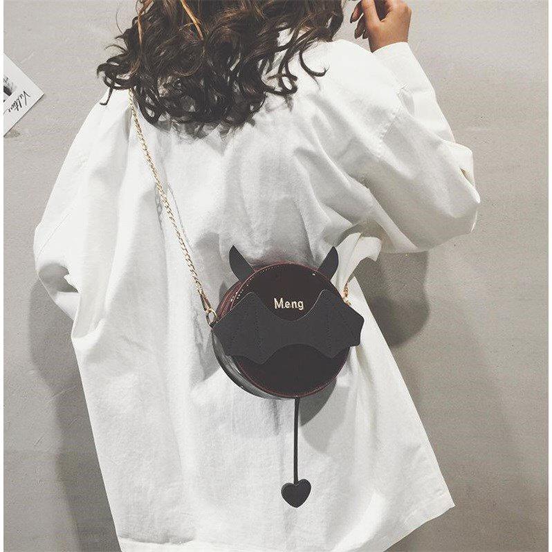 漆皮链条包 漆皮可爱包包女2019新款韩版少女ins小圆包萌链条单肩斜挎包_推荐淘宝好看的女漆皮链条包