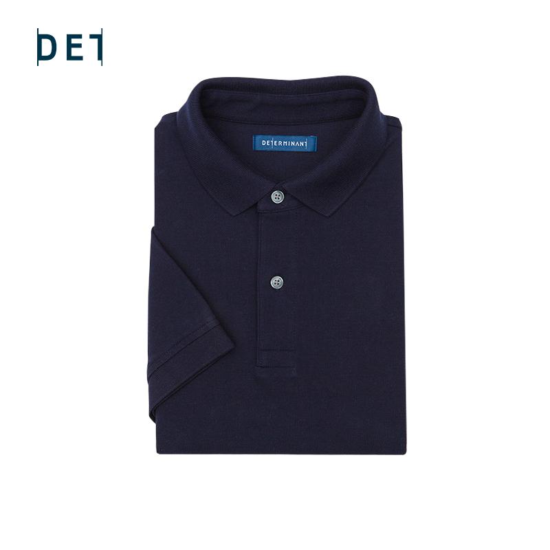 短袖polo衫 十如仕2020夏季新款男士深蓝色修身短袖Polo透气翻领汗无痕polo衫_推荐淘宝好看的男短袖polo衫
