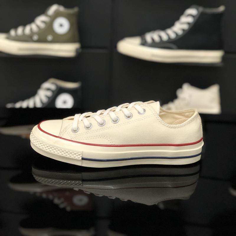 白色帆布鞋 旗舰店官网1970s白色低帮帆布鞋女2020年小白鞋夏季薄款女鞋百搭_推荐淘宝好看的白色帆布鞋