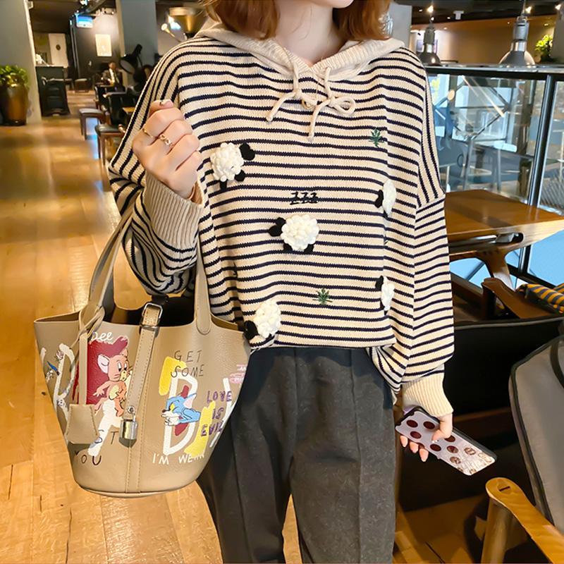 水桶包 包包女包新款2020时尚手提包ins潮涂鸦水桶包斜挎子母包_推荐淘宝好看的女水桶包