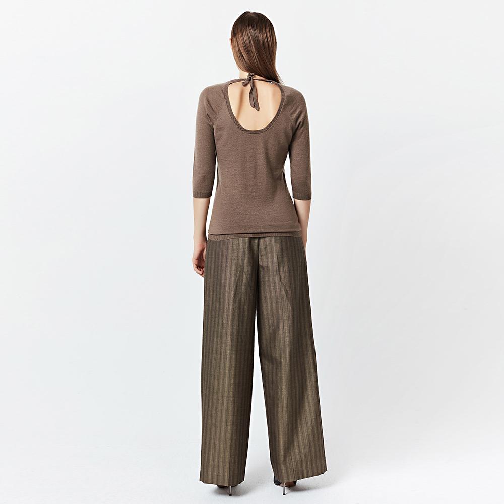 宝姿针织衫 PORTS1961多色绒简约百搭低圆领女士中袖针织衫上衣_推荐淘宝好看的ports 针织衫