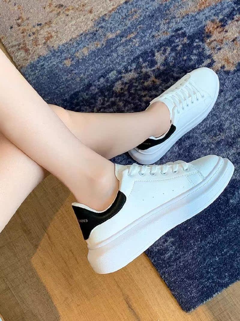 粉红色平底鞋 休闲皮白色平底鞋韩版鞋成人鞋子粉红色运动鞋女妈妈款休闲2020年_推荐淘宝好看的粉红色平底鞋