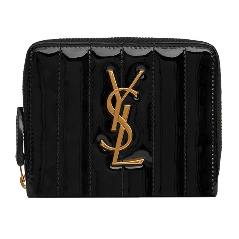 ysl手拿包 YSL圣罗兰女士黑色短款零钱包logo标志手拿包_推荐淘宝好看的ysl手拿包