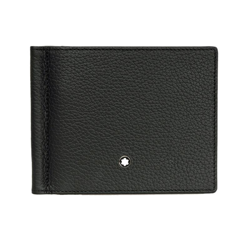montblanc钱包 MONT BLANC 万宝龙 男士大班软皮粒纹系列黑色钱包_推荐淘宝好看的montblanc钱包