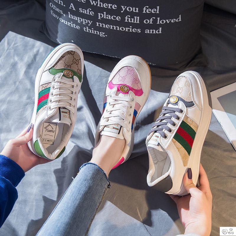 粉红色单鞋 小白鞋女2020新款单鞋韩版春夏透气休闲鞋粉红色板鞋女学生小脏鞋_推荐淘宝好看的粉红色单鞋