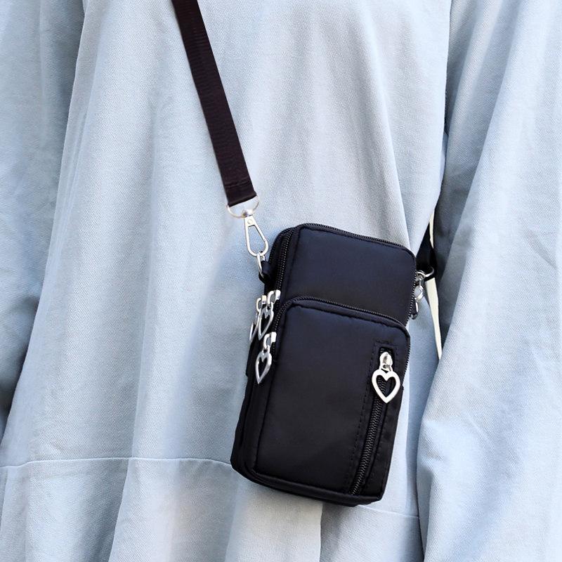 黑色迷你包 黑色放手机包女新款潮2020流行迷你小包包夏天韩版竖款百搭斜挎包_推荐淘宝好看的黑色迷你包