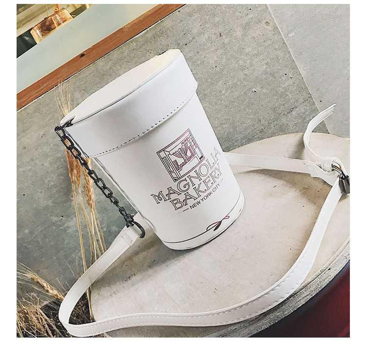 白色水桶包 。欢乐颂2曲筱绡同款包水桶包王小米王子文白色包包斜挎包女潮链_推荐淘宝好看的白色水桶包