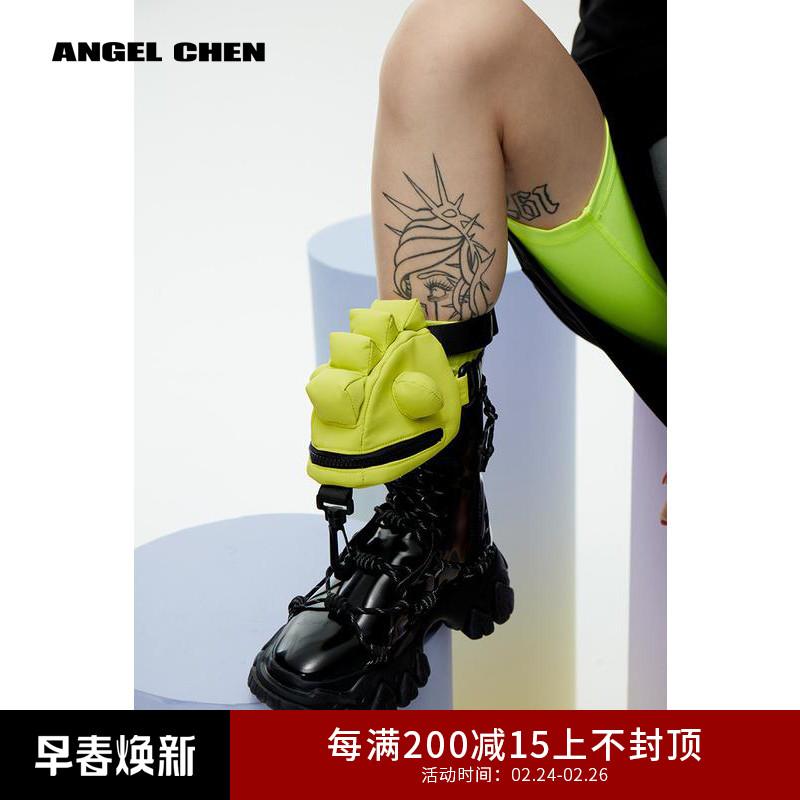 绿色迷你包 ANGEL CHEN 陈安琪SS20 原创设计潮流合伙人同款迷你蜥蜴包绿色_推荐淘宝好看的绿色迷你包