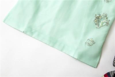 绿色马甲 清爽秀气蓝绿色 立领中式时尚刺绣里外欧根纱小马甲 特!_推荐淘宝好看的绿色马甲