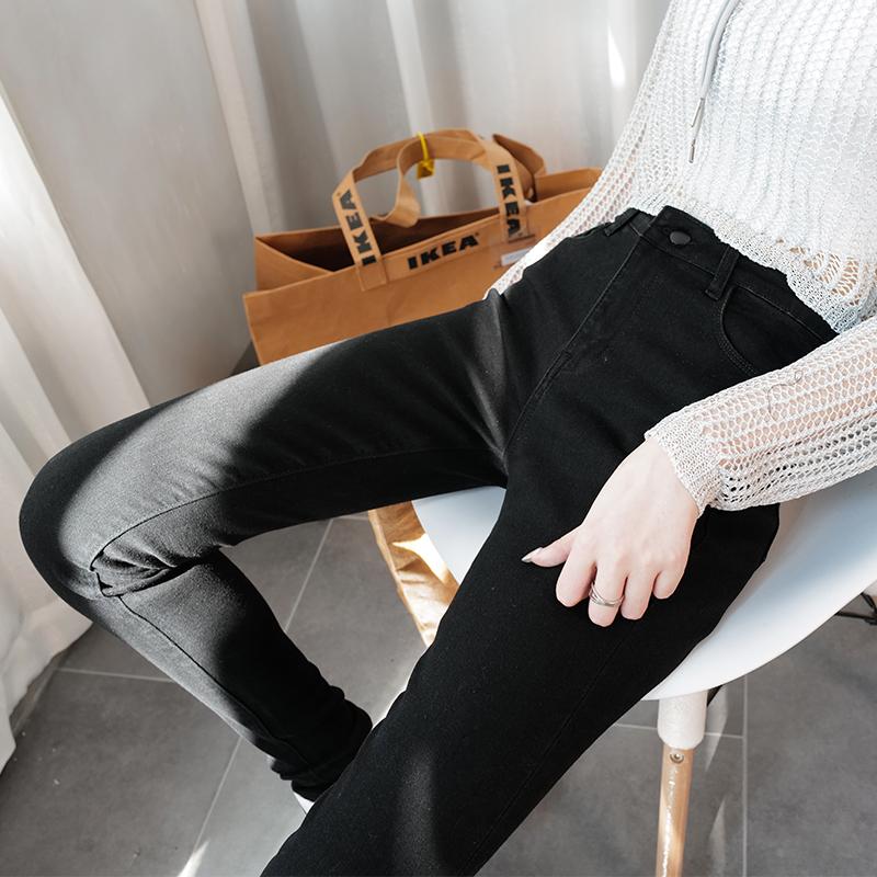 小脚牛仔裤 zrde175高个子加长女裤牛仔裤巨瘦黑色修身高腰百搭铅笔裤小脚裤_推荐淘宝好看的女小脚牛仔裤