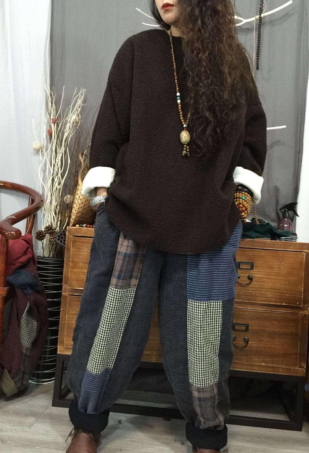 女士套头卫衣 上衣2020年冬季新品韩版羊羔毛加厚加绒宽松大码套头卫衣女士_推荐淘宝好看的女士套头卫衣