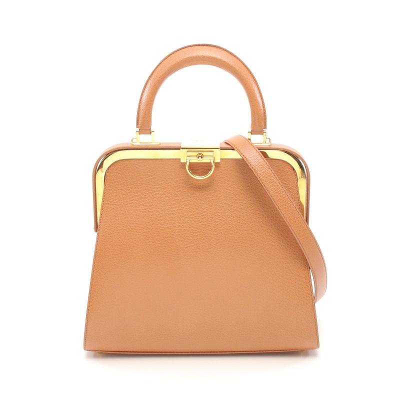 迪奥手提包 中古Dior迪奥【B】9.0新手提包 浅棕色 蛙嘴 两用款670382_推荐淘宝好看的迪奥手提包