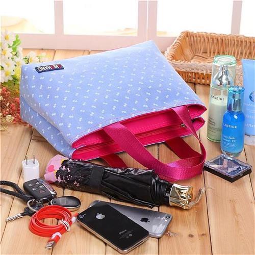 粉红色手提包 手提小清新小型出门方便携带包包婴E儿式多功能大空间粉红色小方_推荐淘宝好看的粉红色手提包