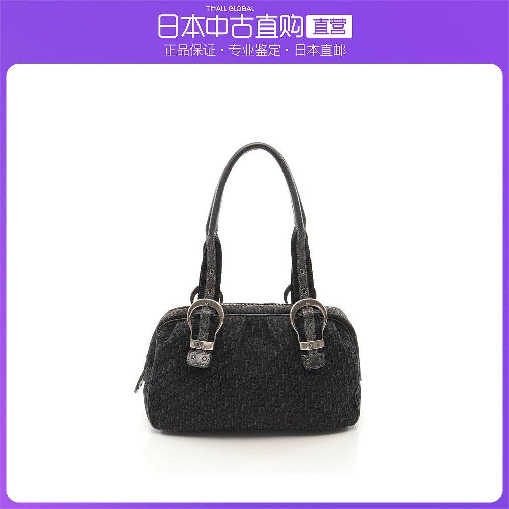 迪奥手提包 日本直邮中古Dior迪奥[B]9.0新Trotter帆布手提包真皮黑色_推荐淘宝好看的迪奥手提包